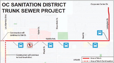 Nearby sewer  construction will  impact traffic