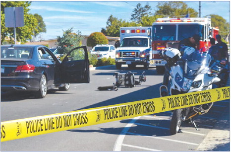 Scooter driver injured in collision Oct. 15